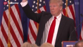 Video «Donald Trump holt in den US-Vorwahlen weitere Stimmen» abspielen