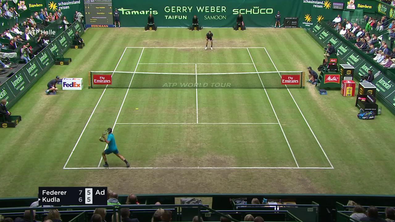 Live-Highlights Federer - Kudla