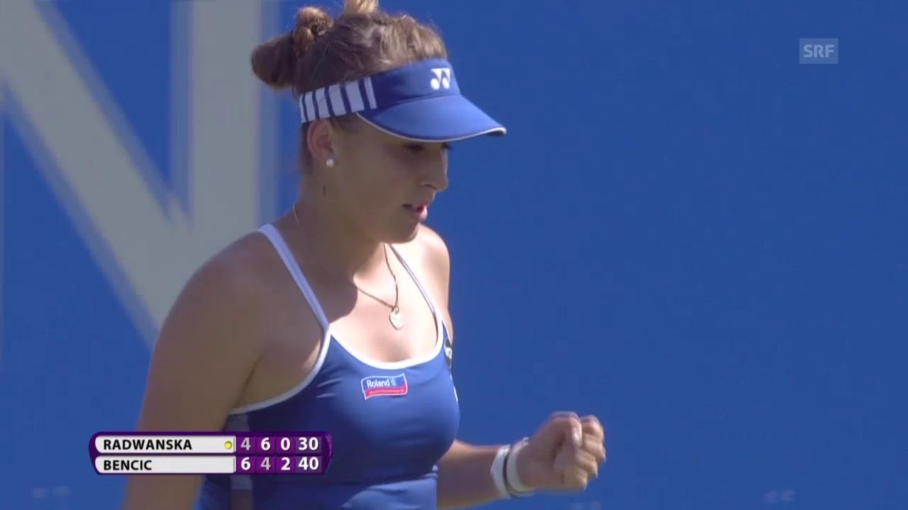 Tennis: WTA Eastbourne, Zusammenfassung Final Bencic - Radwanska
