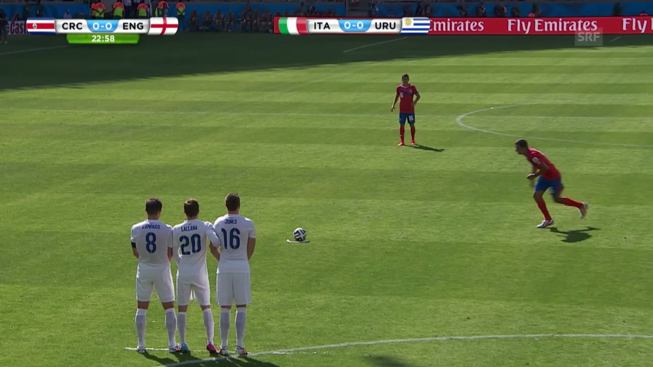 Fussball: FIFA WM 2014, Costa Rica - England, die Live-Highlights
