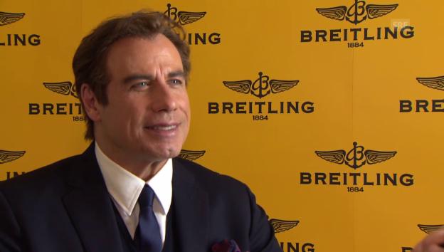 Video «John Travolta über seinen Aufenthalt in der Schweiz» abspielen