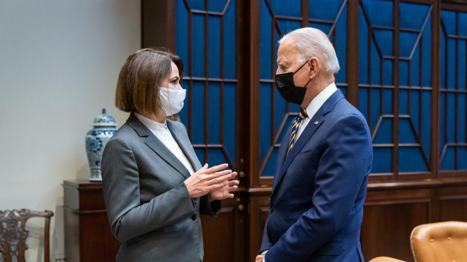 USA: Biden trifft Tichanowskaja