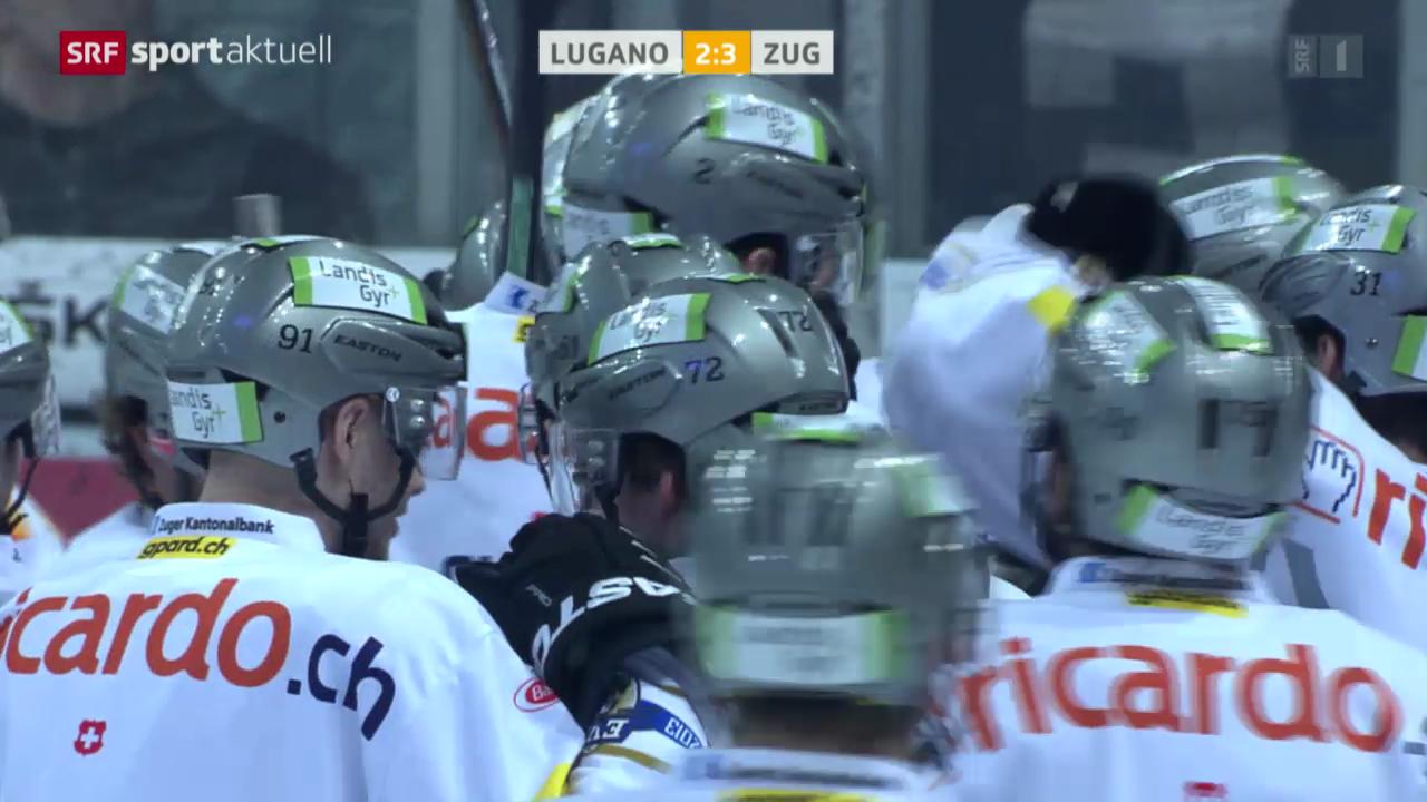 Eishockey: Lugano - Zug