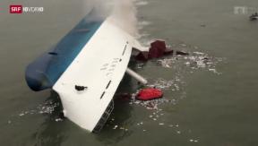 Video «Schweres Schiffsunglück in Südkorea» abspielen