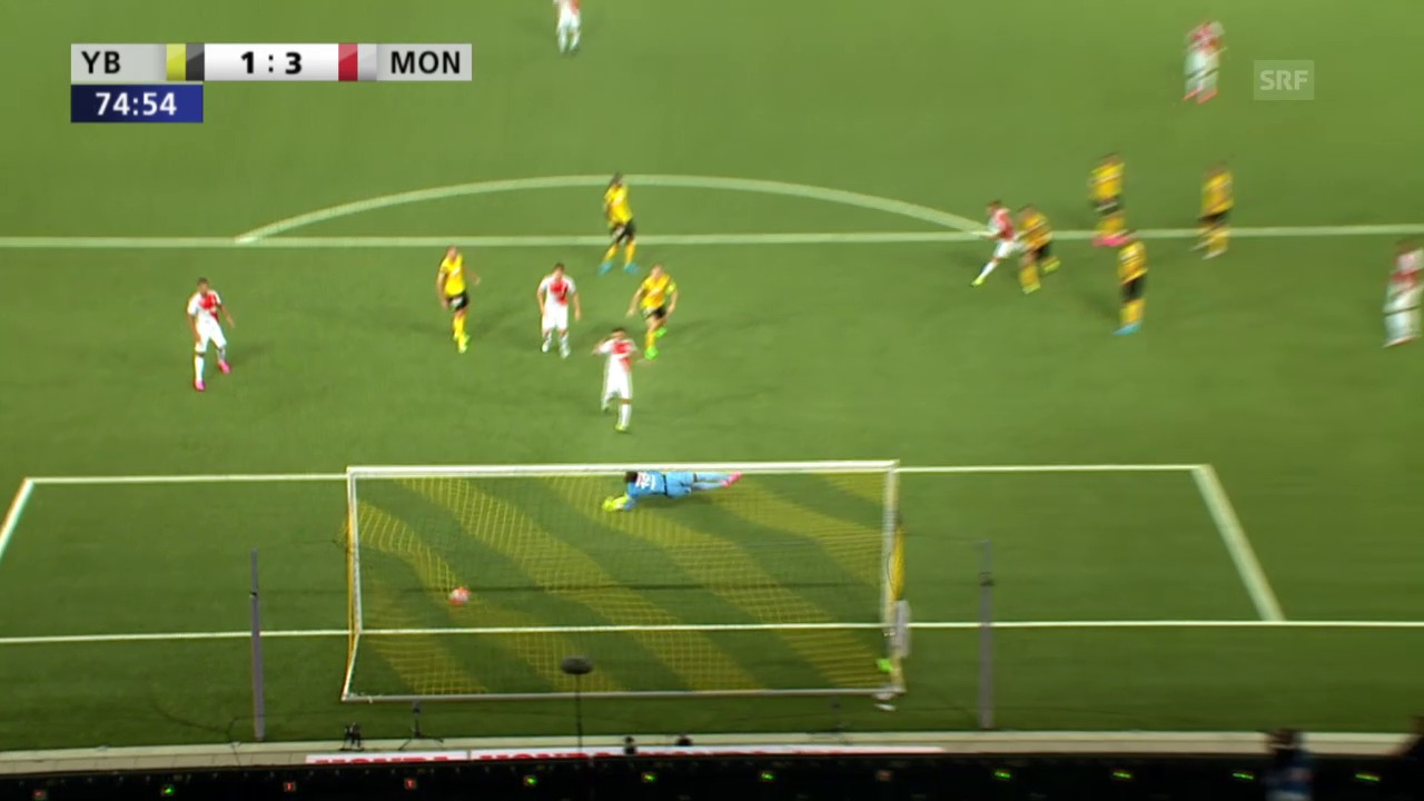 Fussball: Champions-League-Qualifikation, Hinspiel, YB - Monaco, Pasalic trifft zum 3:1