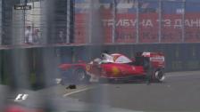 Video «Vettels Arbeitstag endet bereits in der 3. Kurve» abspielen