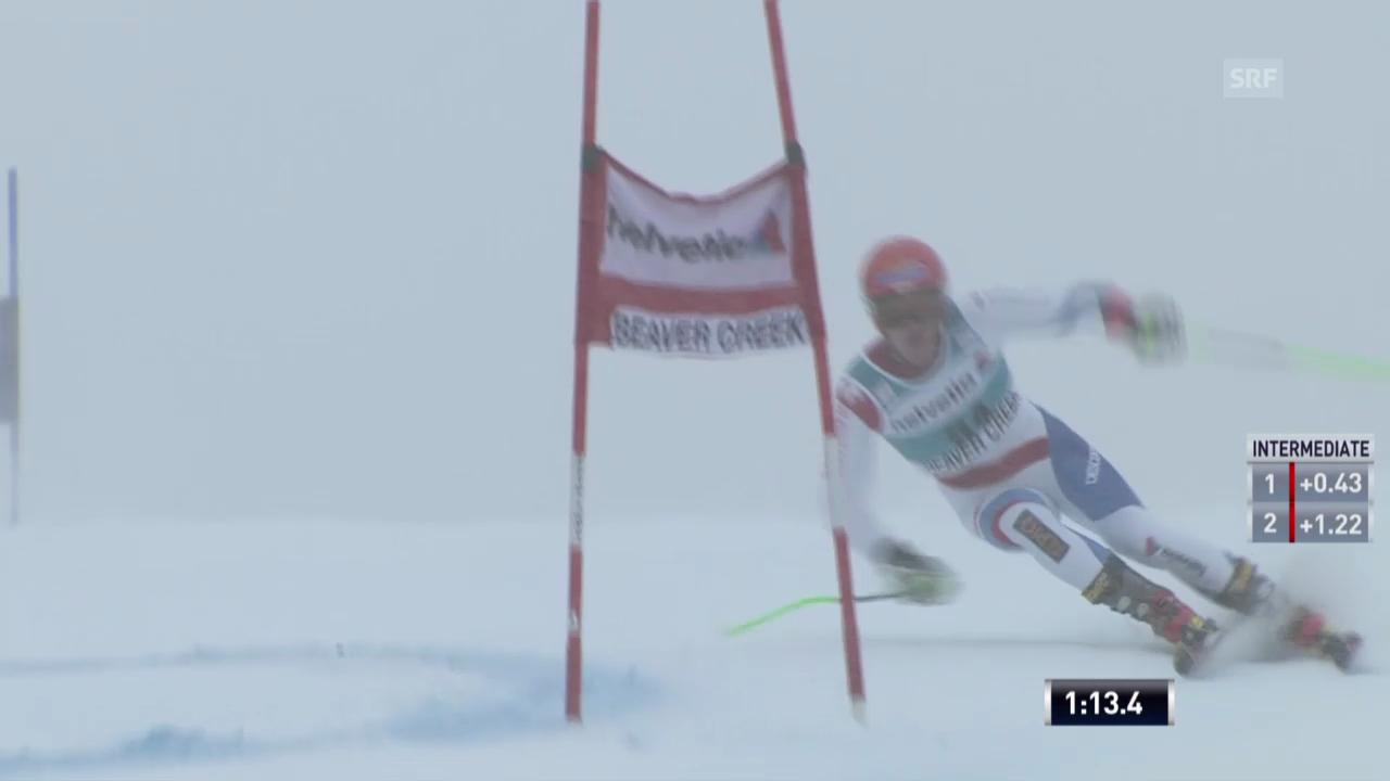 Ski: Thomas Tumlers 1. Lauf beim RS in Beaver Creek
