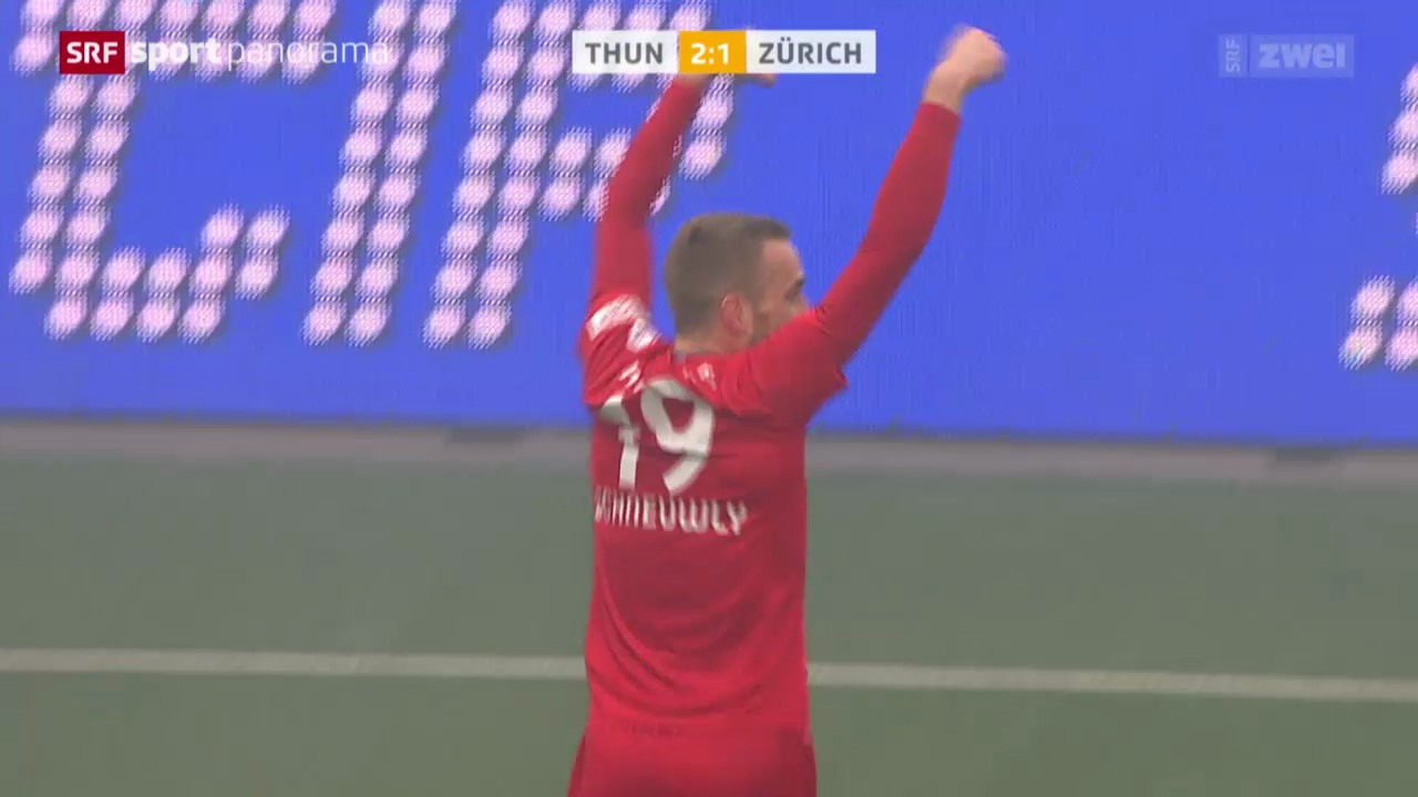 Fussball: Super League, Thun - Zürich