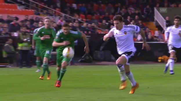Video «EL: Valencia - Rapid Wien» abspielen