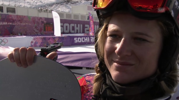 Video «Boardercross: Interview mit Sandra Gerber (sotschi direkt, 16.02.2014)» abspielen