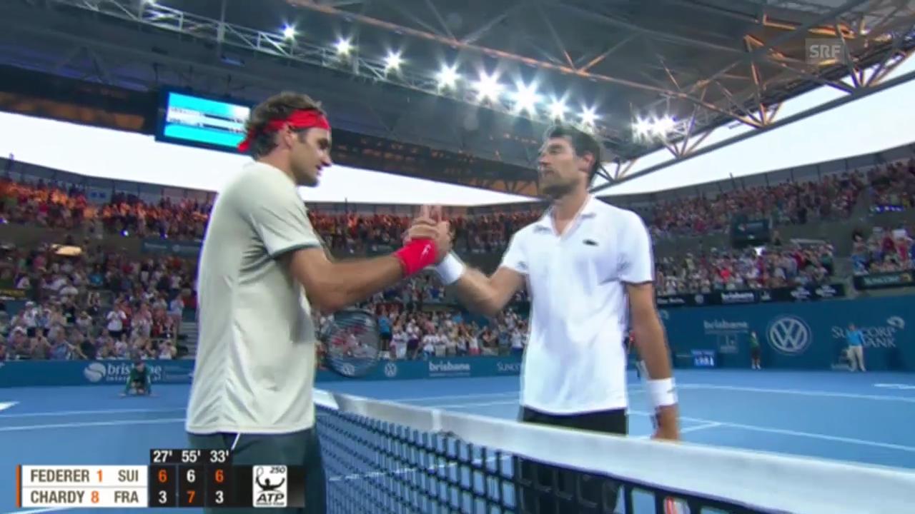 Federer-Chardy (Halbfinal Brisbane)