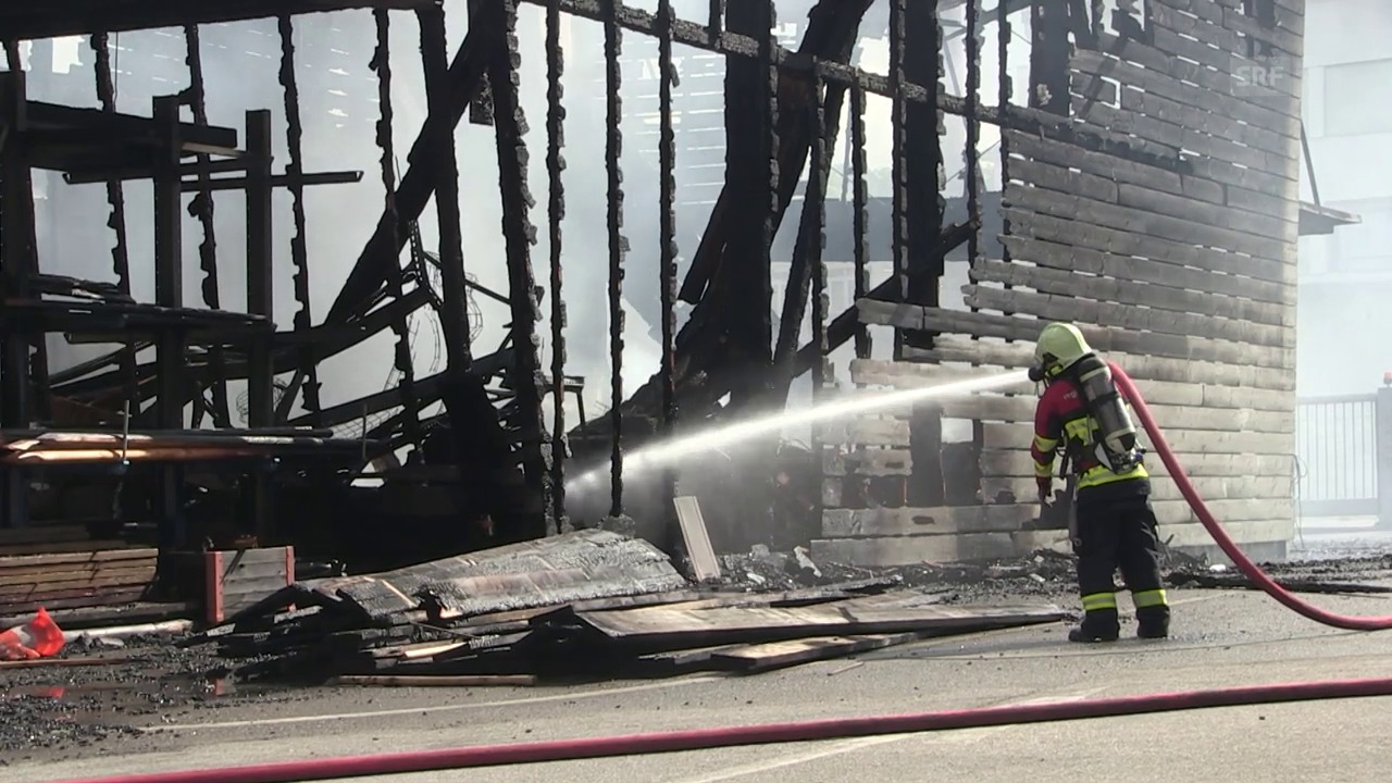 Forstwerkhof Lenzburg abgebrannt
