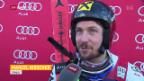 Video «Hirscher gewinnt spektakulären Adelboden-Riesen» abspielen