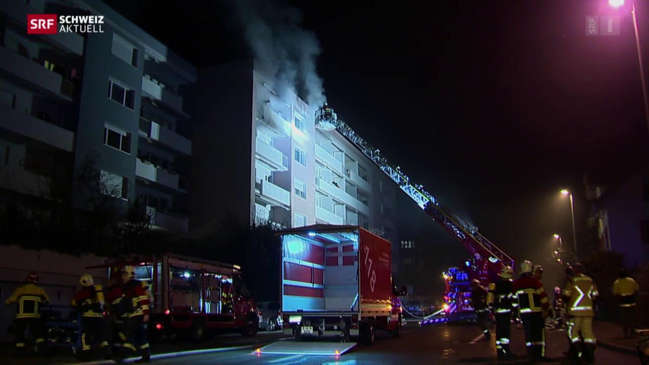 12 Personen nach Brand in Spital