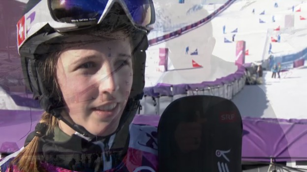 Video «Snowboard: Parallel-Slalom, Interview mit Ladina Jenny (sotschi direkt, 22.2.2014)» abspielen