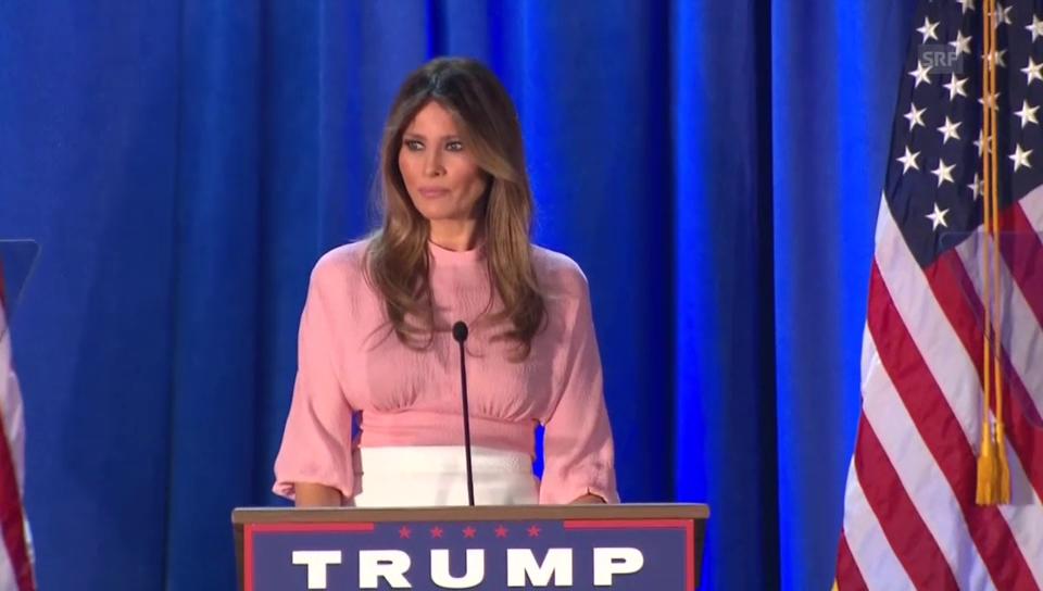 Melania Trumps ganze Rede (Originalton)