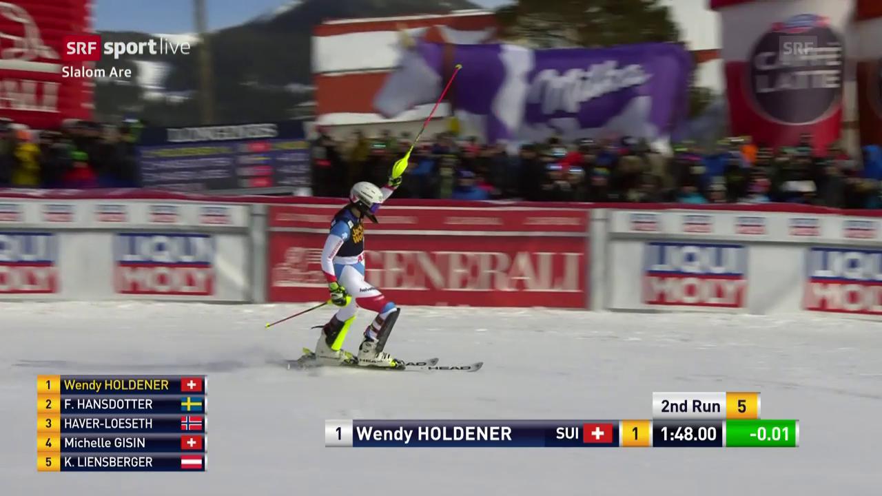 Der 2. Lauf von Wendy Holdener