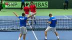 Video «Die Schweiz unterliegt Kasachstan im Davis Cup» abspielen