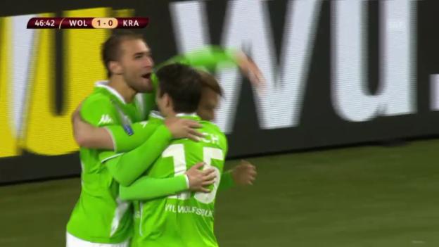 Video «Fussball: Europa League, Wolfsburg-Krasnodar» abspielen