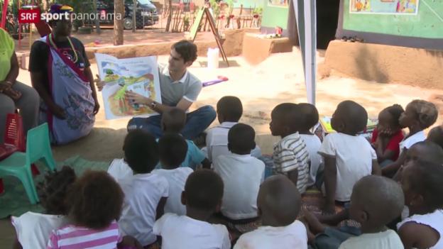 Video «Tennis: Federers Charity-Aktivitäten» abspielen
