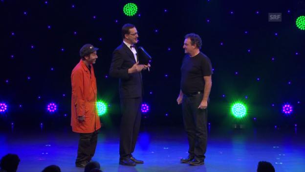 Video «Arosa Humor-Festival 2014: Überraschung für Marco Rima» abspielen