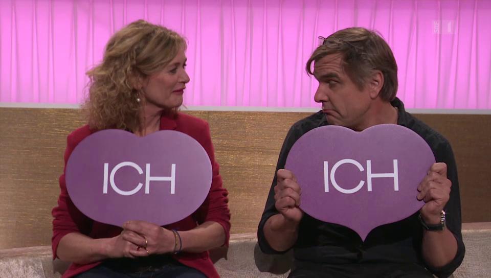 Auf dem Harmoniesofa: Ein Schauspielerpaar