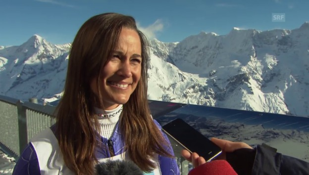 Video «Pippa Middleton zum Inferno-Skirennen» abspielen