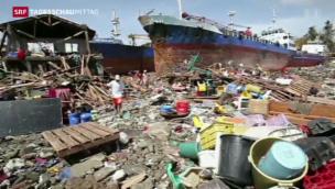 Video «Rückblick auf den Taifun Haiyan» abspielen