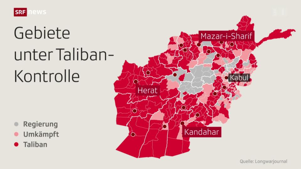FOKUS vom 13.8.2021: In Afghanistan sind Taliban weiter auf dem Vormarsch
