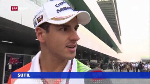 Video «Sutil zurück bei Force India» abspielen