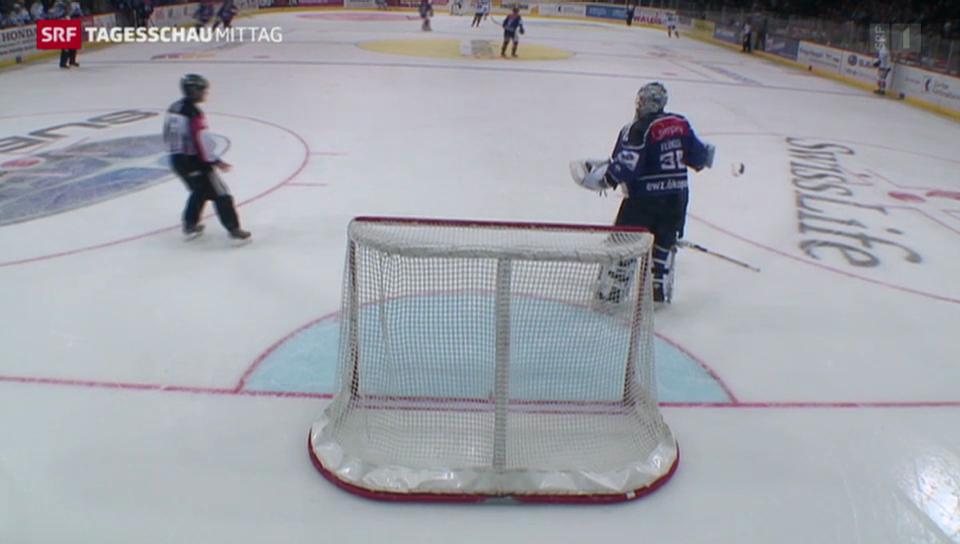 Eishockey: Verwirrung um einen verlorenen Stock