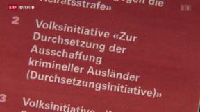 Video «FOKUS: Fragezeichen bei der Durchsetzungsinitiative» abspielen