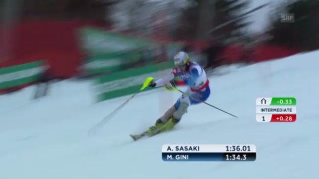 Video «WM-Slalom: 2. Lauf Gini» abspielen