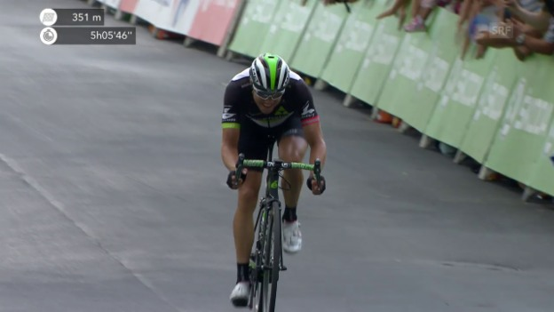 Video «19. Etappe: Boasson Hagen sprintet dem Ziel entgegen» abspielen