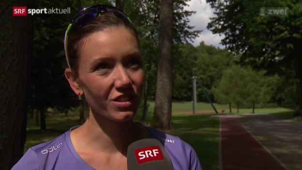 Video «Biathlon: Selina Gasparin nach der Babypause» abspielen