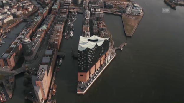 Video «Flug über die Elbphilharmonie» abspielen