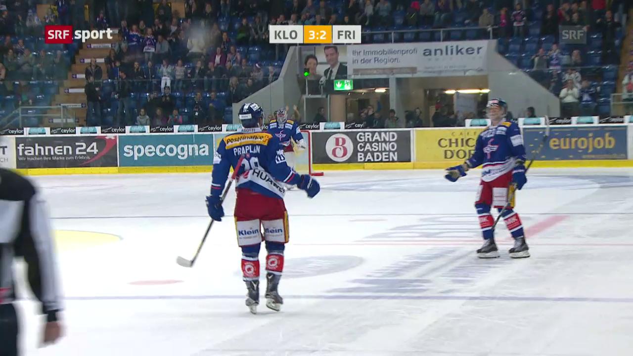 Kloten bezwingt bei Schläpfer-Debüt Freiburg mit 3:2 nP