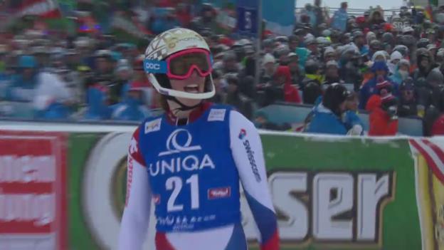 Video «Ski: Slalom Frauen Kühtai, 2. Lauf Gisin» abspielen