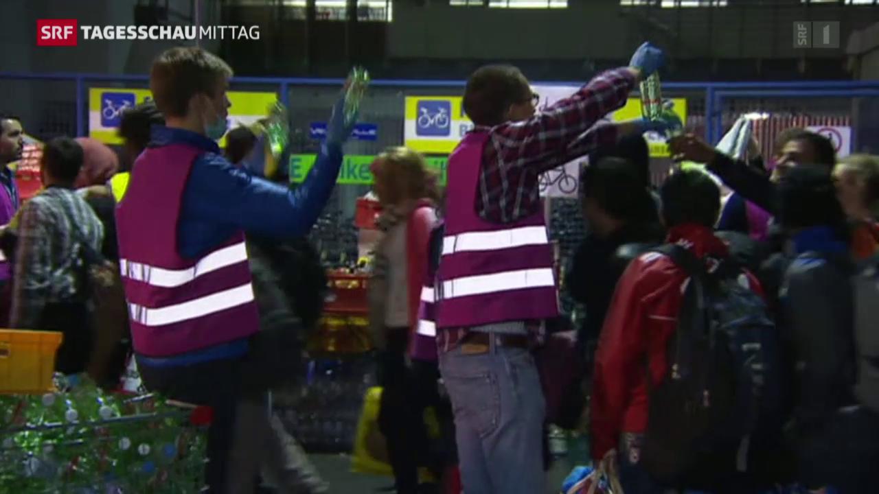 Flüchtlingsandrang in München