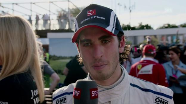 Video «Giovinazzi: «Glücklich, den ersten GP beendet zu haben»» abspielen