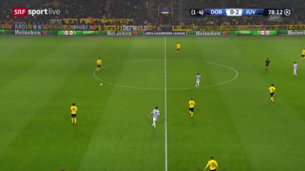 Video «Fussball: Champions League, Achtelfinal, Dortmund-Juventus, 3:0 durch Tevez» abspielen