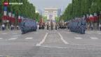 Video «Frankreich feiert den «quatorze juillet»» abspielen