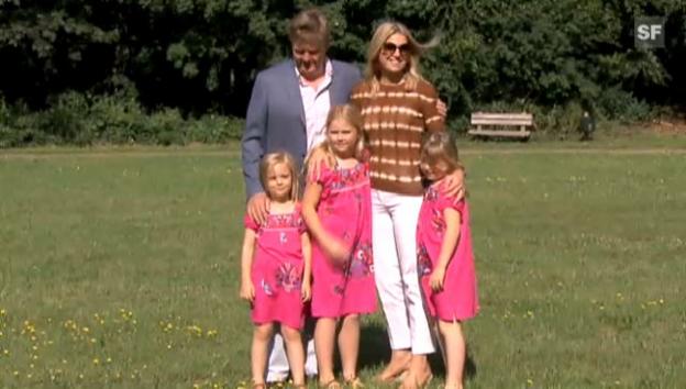 Video «Kronprinz Willem-Alexander mit seiner Familie beim traditionellen Sommer-Shooting (unkomm.)» abspielen