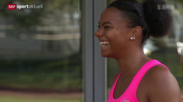 Video «Leichtathletik: Siebenkämpferin Agnou vor der WM» abspielen