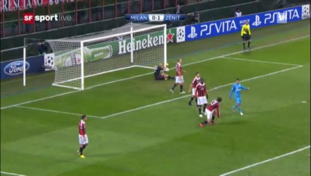 Video «CL: AC Milan - Zenit» abspielen