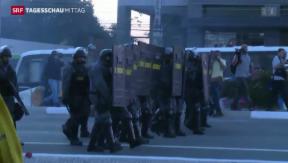 Video «Streiks und Proteste statt Fussballfieber » abspielen
