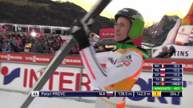 Video «Skispringen: Engelberg, 20.12.2015, Peter Prevc, 2. Sprung» abspielen