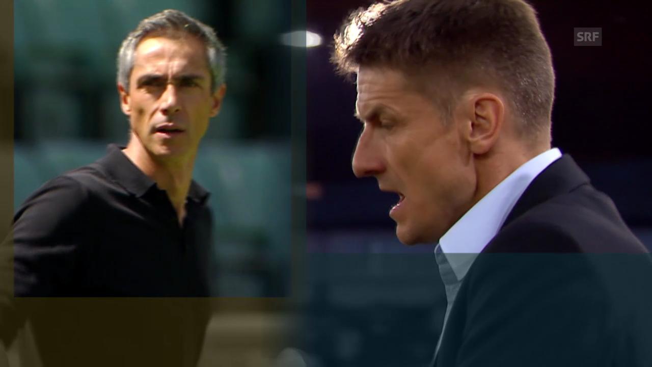Fussball: Super League, die unterschiedlichen Trainer-Mentalitäten von Urs Meier und Paulo Sousa