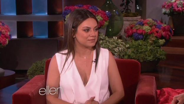 Video «Mila Kunis über ihre Schwangerschaft (in Englisch)» abspielen