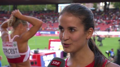 Video «Leichtathletik: Hürdenläuferin Petra Fontanive im Interview» abspielen
